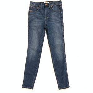 """Madewell Size 27 10"""" High Rise Skinny Jeans"""